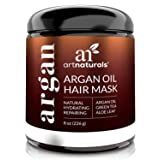 ArtNaturals Argan Oil Hair Mask - (8 Oz/226g) - Deep Conditioner - 100% Organic Jojoba Oil, Aloe Vera & Keratin - Repair Dry, Damaged Or Color Treated Hair After Shampoo - Sulfate Free (Color: Argan Oil Hair Mask, Tamaño: 8 Fl Oz / 236ml)