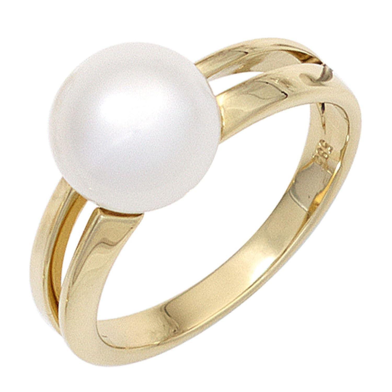 Damen Ring 585 Gelbgold 1 Süßwasser Perle jetzt bestellen