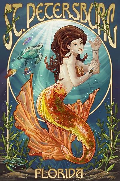 St. Petersburg, Florida - Mermaid poster