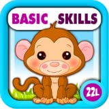 Preschool All-In-One Basic Skills: Learning Adventure A to Z (Letters, Numbers, Colors, Shapes, Go Together, Patterns, 123s counting, ABCs reading) - Games for Kids - Educational Toy for Baby, Toddler and Kindergarten Explorers by Abby Monkey®