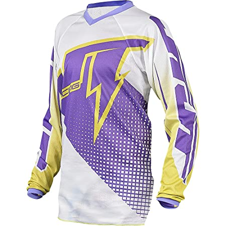 JT RACING Motocross Enfants Jersey 2015 - FLEX VOLTAGE - violet-blanc-jaune fluo