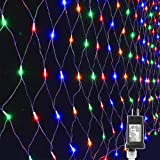 Lyhope 12ft x 5ft 360 LED Decorative Net Lights, 8 Modes Low Voltage Mesh Fairy Christmas Lights for Xmas Trees, Bushes, Wedding, Garden, Outdoor, Indoor Decor (Multi-Color) (Color: 360led-Multicolor, Tamaño: 360led)
