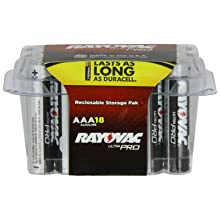 Rayovac UltraPRO Alkaline Batteries, AAA, Recloseable 18-Pack #ALAAA-18 (Pack of 3)