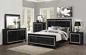 Home Source 50902036 Cosmopolitan Collection Asian Hardwood Dresser, 55 by 18 by 66-Inch, Black