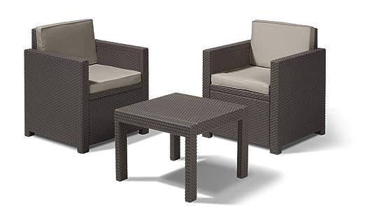 LD Balcón Juego de muebles muebles Balcón Set Muebles de Jardín Terraza Muebles imitación de ratán