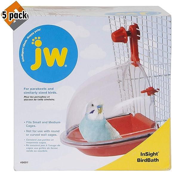 JW Pet Company Insight Bird Bath Bird Accessory - 5 Pack (Tamaño: 5 Pack)