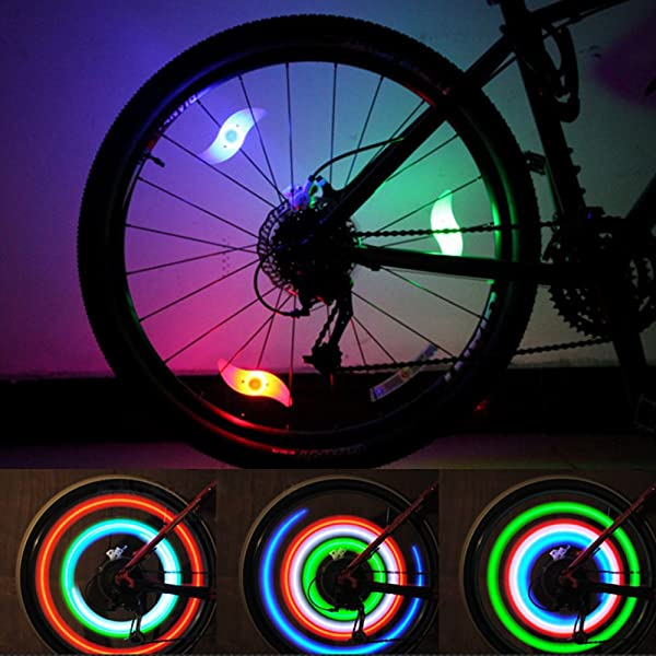 LeBoLike Bike Spoke Lights Cycling Bike Wheel Lights for Bicycle Decoration 6 Pack - Batteries Included (Color: RGB 6 pack)