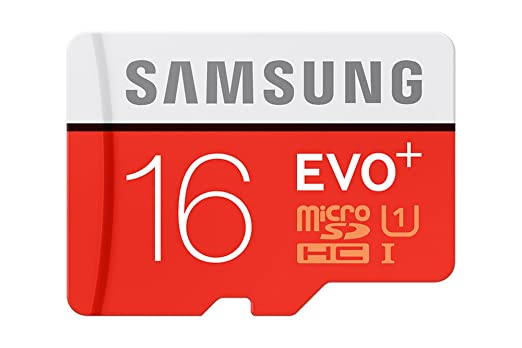 Samsung EVO Plus 16GB microSD Card (Red/Grey) low price
