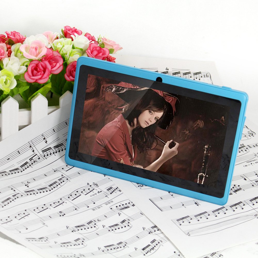 JEJA 7 Inch Android Google Tablet PC 4.2.2 DDR3 512MB 16GB A23 Dual Core Camera Capacitive Touch Screen 1.5GHz WiFi Sky Blue Azurereview and more information