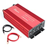 Soyond 1500W Power Inverter for Home Car RV with AC Outlets Converter 12 V DC to 120 V AC (Color: Red, Tamaño: 1500Watt)