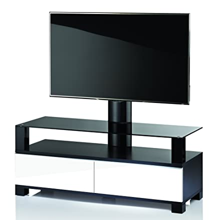 "VCM 17167 TV-Möbel ""Ravano 120"" Holz 120 x 120 x 44 cm, Weiß"