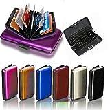 Goldenvalueable Aluminum Aluma Hard Case Credit Cards Wallet (Assorted 6 Pack)