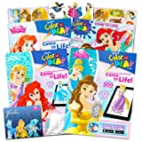 Disney Princess Coloring Book Super Set -- Bundle Includes 4 Disney Princess Books Filled with Over 600 Stickers and Activities (Party Set) (Color: Disney Princess, Tamaño: Super Set (3 Books))