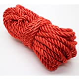 U Pick 10yds 5mm Decorative Twisted Satin Polyester Twine Cord Rope String Thread Shiny Cord Choker Thread (01:Red) (Color: 01:Red, Tamaño: 5mm)