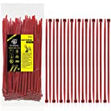 Nylon Zip Ties Heavy Duty- 8 Inch Red,Multi-Purpose Self Locking Cable Ties, Ultra Strong Plastic Wire Ties with 50 Pounds Tensile Strength, 100 Pieces. (Color: Red, Tamaño: 8 Inch)