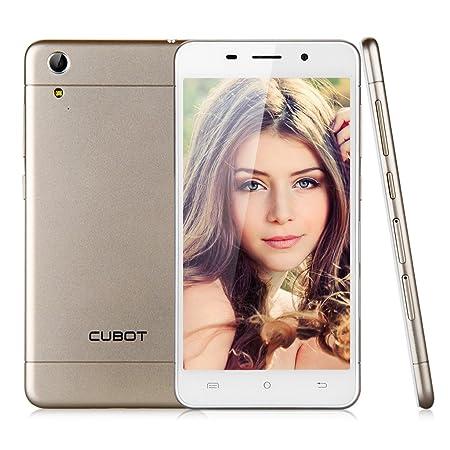 "CUBOT X9 Dorado Unlocked Movil 3G Octa Core Y Doble SIM y Doble modo de Espera Con Pantalla de 5.0"" Pulgadas IPS HotKnot Smartphone Android 4.4 KitKat MTK6592 de 2G RAM + 16G ROM Con Camara 8.0MP GPS OTG WIFI T-Mobile Para Movistar vodafone Orange O2"