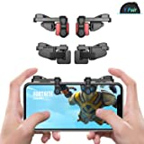 [ELITE Edition]Leuna PUBG Fortnite Mobile Game Controller L1R1 Game Triggers Fire and Aim Buttons for iPhone SE 6 7 8 X / Samsung Note 8 9 S7 S8 S9 (Color: Elite Edition 1 Pair, Tamaño: Elite Edition)