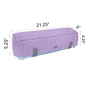 Luxja Dust Cover Compatible with Cricut Explore Air and Explore Air 2, Dust Cover with Back Pockets for Accessories, Lavender (Color: Lavender)