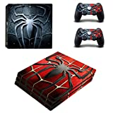 Adventure Games PS4 PRO - Spiderman - Playstation 4 Vinyl Console Skin Decal Sticker + 2 Controller Skins Set