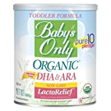 Baby's Only Organic Non-GMO LactoRelief with DHA & ARA Toddler Formula, 12.7 oz (Pack of 6)