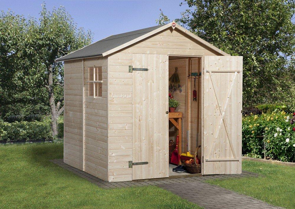 Weka Gardenbox Gr. 3 mit Satteldach und Doppeltür