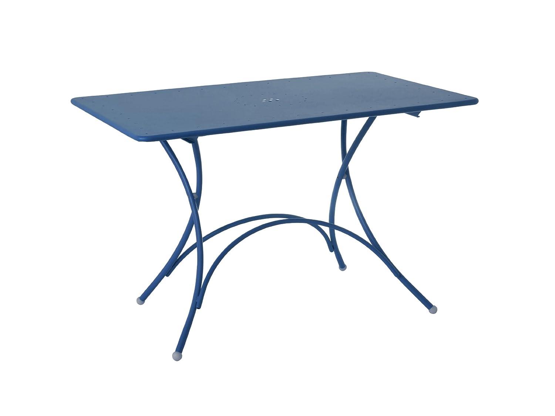 Emu 309036100N Pigalle Klapptisch 903, 120 x 76 cm, pulverbeschichteter Stahl, petrolblau