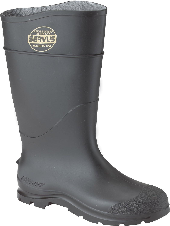 CLC Rain Wear R23011 Over The Sock Black PVC Rain Boot, Size 11