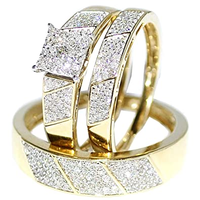Yellow Gold Womens Wedding Rings