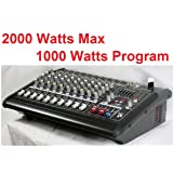 GTD Audio 10 Channal 1000Watt Professional Powered Mixer Amplifier (500w RMS / 2x250w RMS)