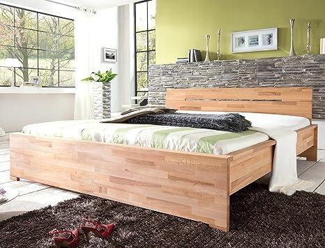 Massivholzbett Savin Kernbuche geölt Doppelbett Jugendbett Ehebett Holzbett Schlafzimmer Jugendzimmer Bett, Liegefläche:140 x 200 cm
