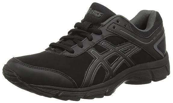 asics black gel-mission walking trainers