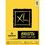 Canson XL Series Bristol Pad, Heavyweight Paper for Ink, Marker or Pencil, Smooth Finish, Fold Over, 100 Pound, 9 x 12 Inch, Bright White, 25 Sheets (Color: 25 Sheets, Tamaño: 9