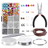 PP OPOUNT Jewelry Making Starter Kit Jewelry Making Beads for Jewelry Crafting and Jewelry Repairing (Color: Brown)