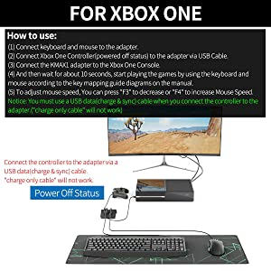 [2019 Upgrade Version] IFYOO KMAX1 Keyboard and Mouse Adapter Converter for PS4 / Xbox One/Switch / PS3 - Compatible with PUBG, H1Z1 and Other Shooting Games (Color: black)