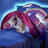 DSSY Kids Dream Tent Pop Up Bed Tent Playhouse Magical Dream World Winter Wonderland Dinosaurs Unicorn Fantasy (Unicorn) (Color: Unicorn)