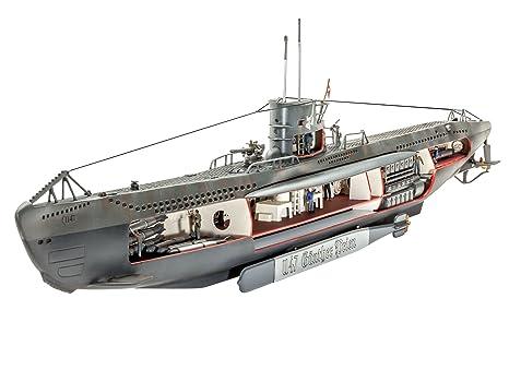 Revell - 05060 - Maquette De Bateau - Sous Marin Allemand U-47 Intérieur Visible - Echelle 1/125 - 124 Pièces