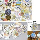8 Pack Planner Cute Stickers - Tropical rain Forest Flower Flamingo Decorative Sticker Collection for Calendars, Arts, Kids DIY Crafts, Scrapbooking, Album, Bullet Journals (Color: White)