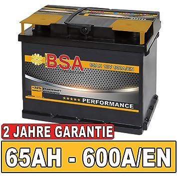 autobatterie 65ah 540a 30 mehr startkraft ersetzt 60ah. Black Bedroom Furniture Sets. Home Design Ideas