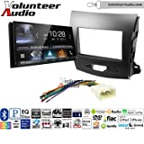 Volunteer Audio Kenwood DDX9704S Double Din Radio Install Kit with Apple Carplay Android Auto Fits 2007-2013 Mitsubishi Outlander