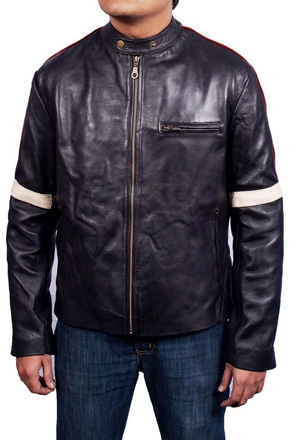 Men's War Of The World Sheep Coffee brown Leather Jacket
