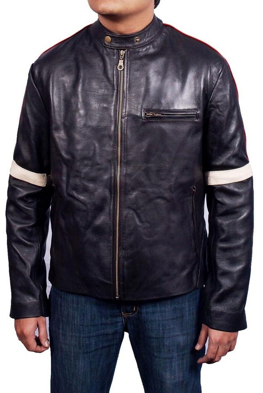 Men's War Of The World Sheep Coffee brown Leather Jacket günstig