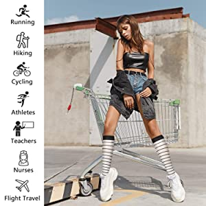 Compression Socks,15-20 mmHg Best Athletic and Medical Socks for Men & Women (Color: Assorted 7-8 Pairs, Tamaño: S/M)