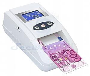 Geldprüfer Geldprüfgerät Banknotenprüfer Falschgeldprüfer 100% Erkennung SR2200 mit Akku Geldtester  BaumarktRezension