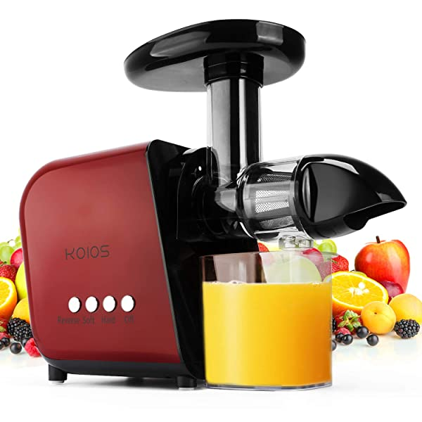 Hand Slow Juicer Machine for Vegetables and Fruits Red1 Manual ...