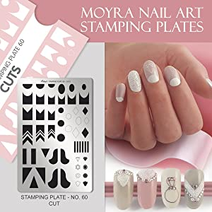 Moyra Kit 5 Plates + Pink Case: Celebration 2 + Step by Step + Cuts + L'Amour + Baroque Garden