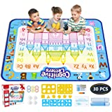Jasonwell Aqua Magic Doodle Mat 40 X 32 Inches Extra Large Water Drawing Doodling Mat Coloring Mat Educational Toys Gifts for Kids Toddlers Boys Girls Age 2 3 4 5 6 7 8 Year Old (Tamaño: XL)