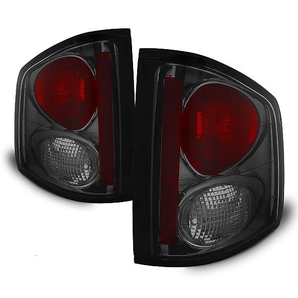 For 94-04 Chevy S10//GMC Sonoma Black Tail Lights Lamp Rear Brake Pair L+R