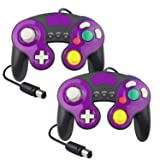 YCCTEAM Wired Gamecube Controllers for Nintendo Switch, Game Cube NGC Classic Controller Compatible with Wii U, for Ultimate Super Smash Bros (2 Packs) (Color: Multicolor, Tamaño: 1.8 M)