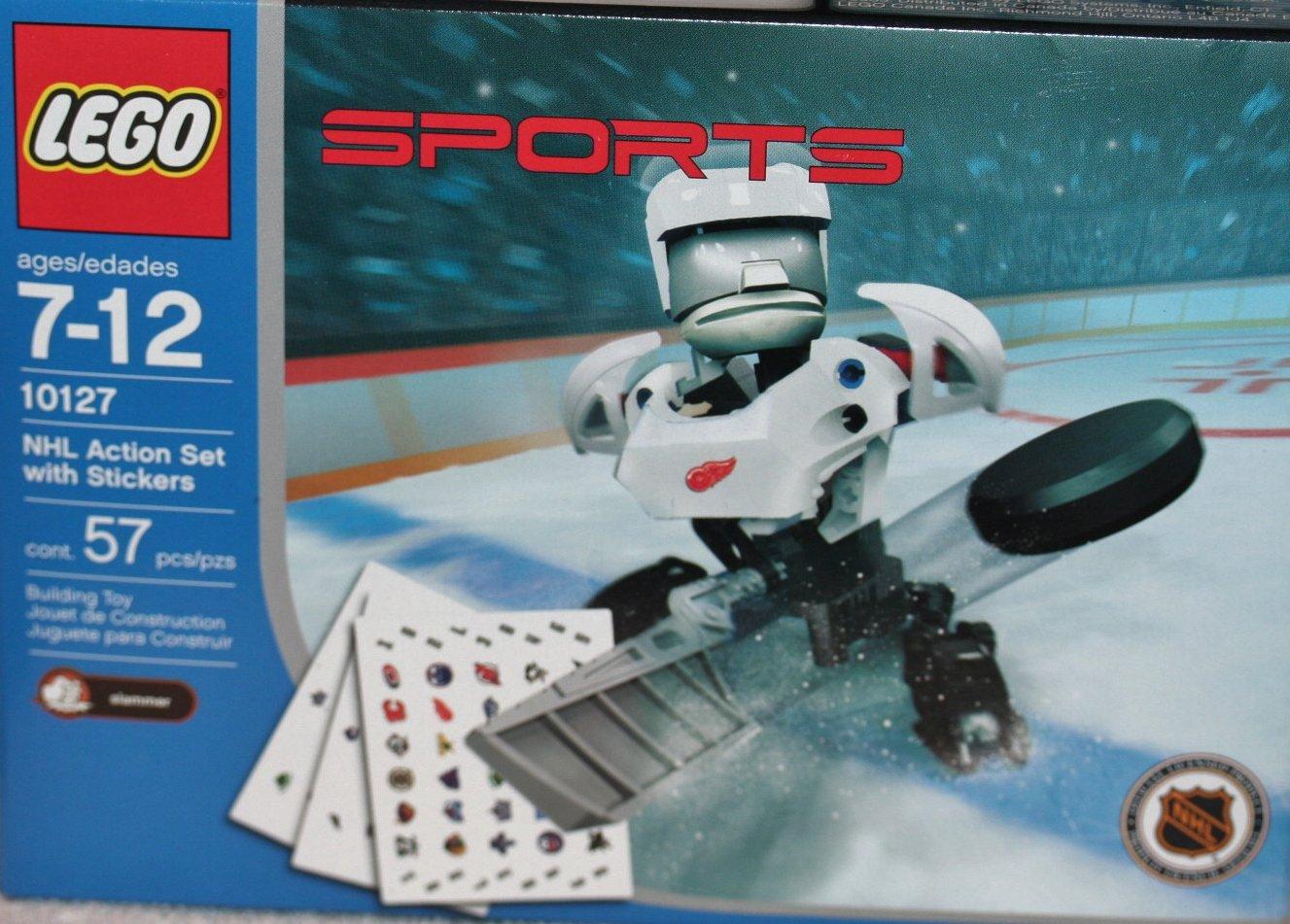 Lego Sports 10127 – NHL Action Set mit Aufklebern, 57 Teile als Geschenk