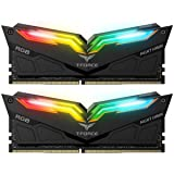 High Performance Gaming Products from TeamGroup Night Hawk RGB Black, 16GB (2 x 8GB) DDR4-3200 MHz Desktop Memory RAM, Timing CL16-18-18-38, Voltage 1.35V